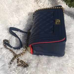 NEW Quilted Navy handbag